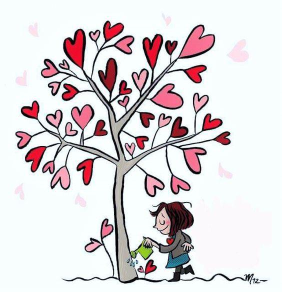arroser un arbre à cœur